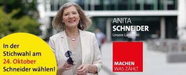 In der  Stichwahl am  24. Oktober Schneider wählen!